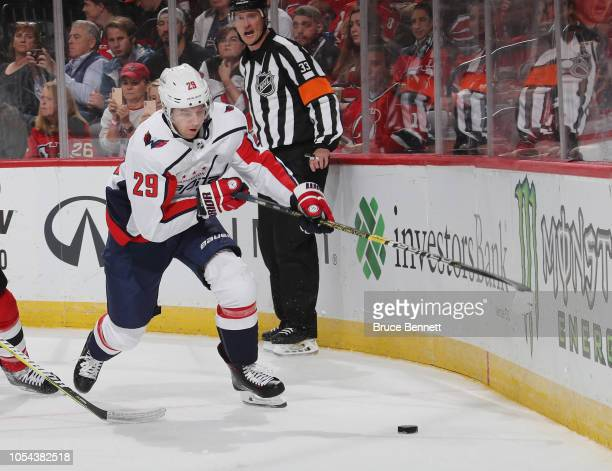 Christian Djoos of the Washington Capitals skates against the New Jersey  Devils at the Prudential Center 7bd418994