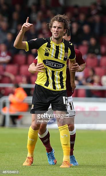 Christian Doidge of Dagenham Redbridge in action during the Sky Bet League Two match between Northampton Town and Dagenham Redbridge at Sixfields...