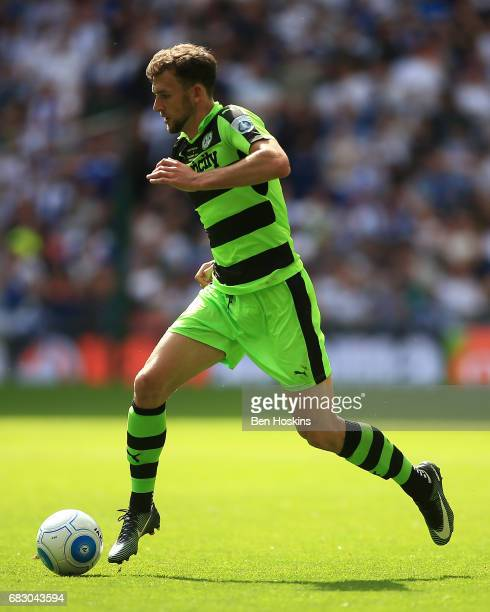 Christian Doidge of Forest Green in action during the Vanarama National League Play Off Final between Tranmere and Forest Green at Wembley Stadium on...