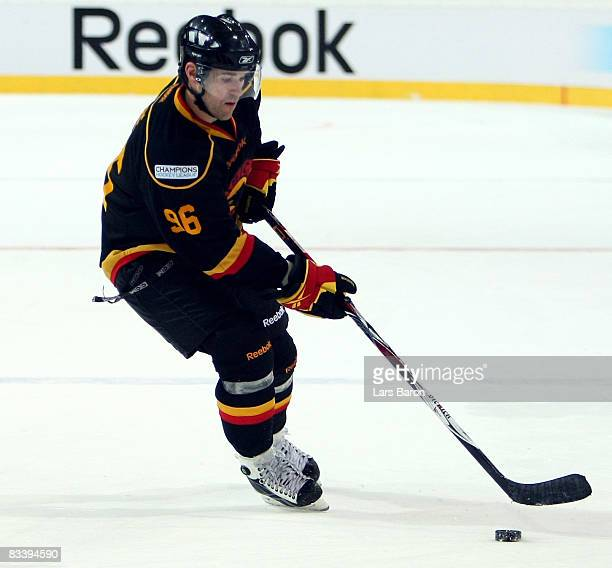Christian Dube of Bern in action during the IIHF Champions Hockey League match between SC Bern and Espoo Blues at the PostFinance Arena on October...