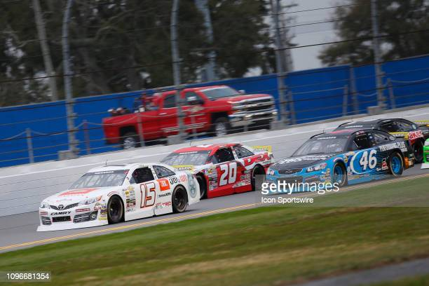 Christian Eckes driver of the Venturini Motorsports Toyota leads the field during the Lucas Oil 200 Driven by General Tire on February 9 2019 at...