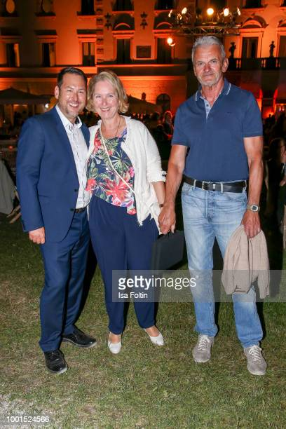 Christian Eckl and family during the Brian Ferry concert at the Thurn Taxis Castle Festival 2018 on July 18 2018 in Regensburg Germany