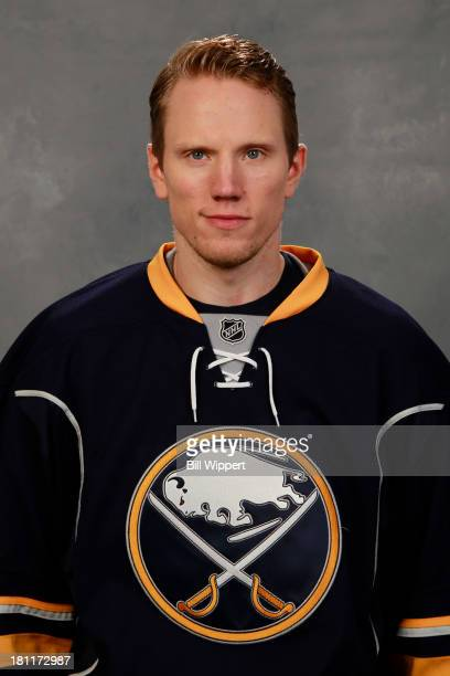 Christian Ehrhoff of the Buffalo Sabres poses for his official headshot for the 20132014 season on September 11 2013 at the First Niagara Center in...