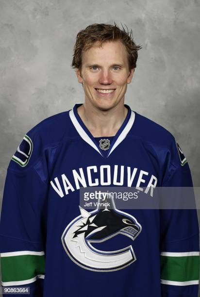 Christian Ehrhoff of the Vancouver Canucks poses for his official headshot for the 20092010 NHL season in Vancouver British Columbia Canada