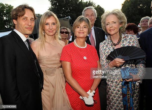 Christian Elsen his wife designer Jette Joop Princess Gloria von Thurn und Taxis Count Andreas von Hardenberg and Countess Isa von Hardenberg attend...