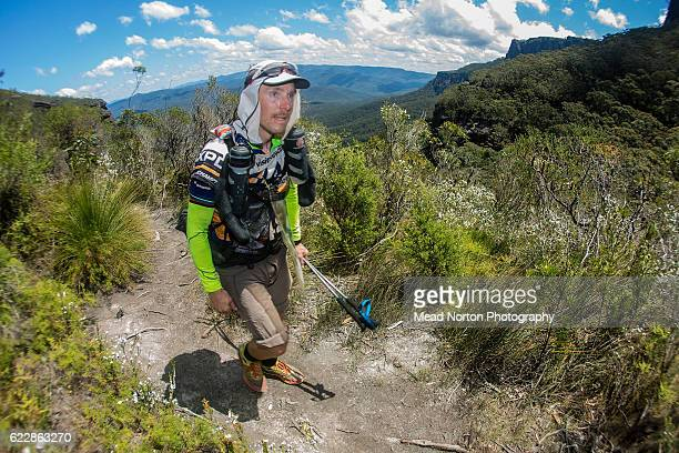 Christian Ericson from Team Outnorth Adventure Team from Sweden hiking up to 'The Castle' in Morton National Park during the Adventure Race World...