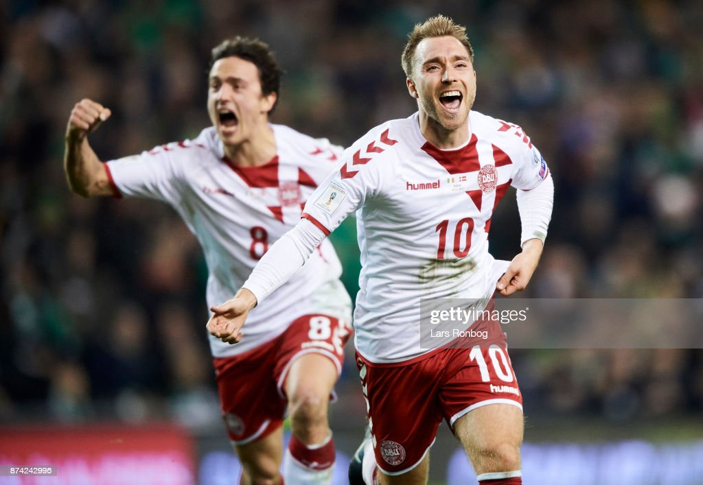 Republic of Ireland vs Denmark - FIFA 2018 World Cup Qualifier Play-Off Second Leg : News Photo