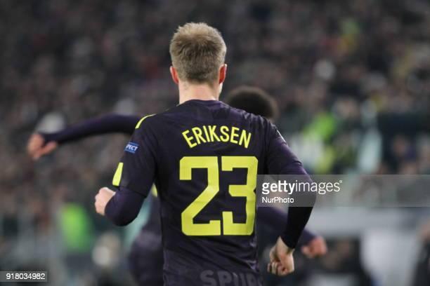 Christian Eriksen during the UEFA Champions League 2017/18 football match between Juventus FC and Tottenham Hotspur FC at Allianz Stadium on 13...