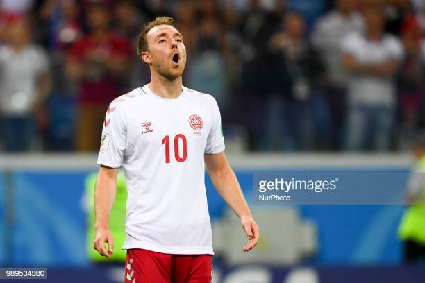 Christian Eriksen of Denmark after penalty shoot during the 2018 FIFA World Cup Round of 16 match between Croatia and Denmark at Nizhny Novgorod...