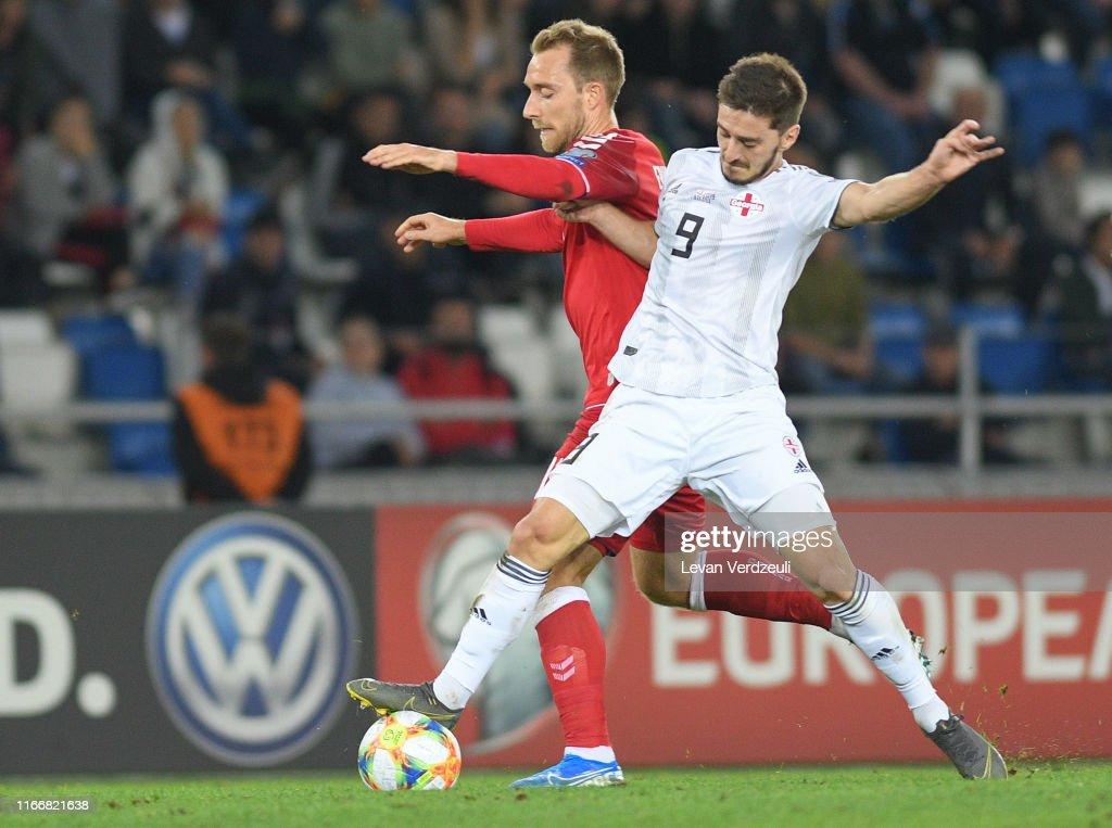 Georgia v Denmark  - UEFA Euro 2020 Qualifier : News Photo