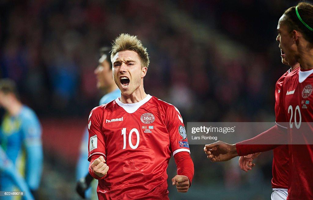 Denmark vs Kazakhstan - FIFA 2018 World Cup Qualifier : News Photo