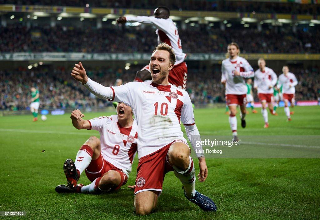Republic of Ireland vs Denmark - FIFA 2018 World Cup Qualifier Play-Off Second Leg : News Photo