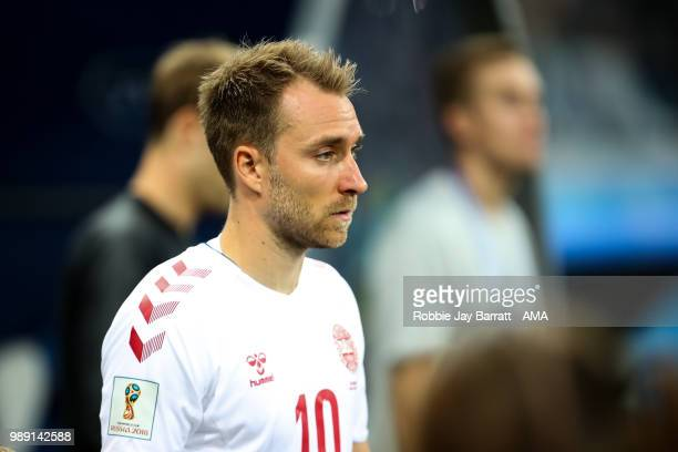 Christian Eriksen of Denmark during the 2018 FIFA World Cup Russia Round of 16 match between 1st Group D and 2nd Group C at Nizhny Novgorod Stadium...