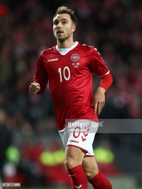 Christian Eriksen of Denmark during the FIFA 2018 World Cup Qualifier PlayOff First Leg between Denmark and Republic of Ireland at Telia Parken on...