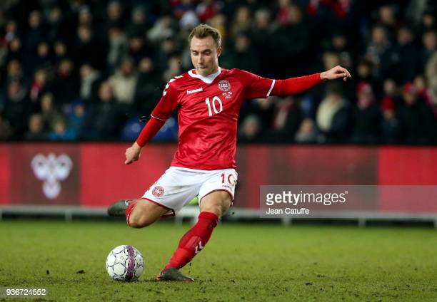 Christian Eriksen of Denmark during the international friendly match between Denmark and Panama at Brondby Stadion on March 22 2018 in Brondby Denmark