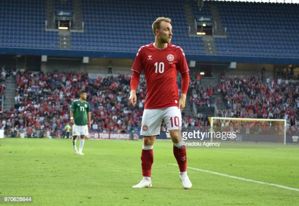 Christian Eriksen of Denmark is seen during the international friendly match between Denmark and Mexico ahead of the FIFA World Cup Russia 2018 at...