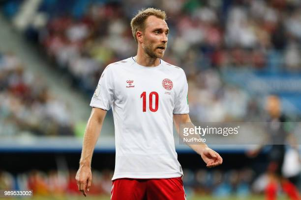 Christian Eriksen of Denmark national team during the 2018 FIFA World Cup Russia Round of 16 match between Croatia and Denmark on July 1 2018 at...