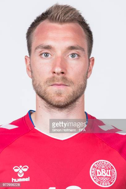 Christian Eriksen of Denmark poses during official FIFA World Cup 2018 portrait session on June 12 2018 in Anapa Russia