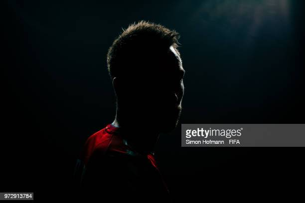 Christian Eriksen of Denmark poses during the official FIFA World Cup 2018 portrait session on June 12 2018 in Anapa Russia