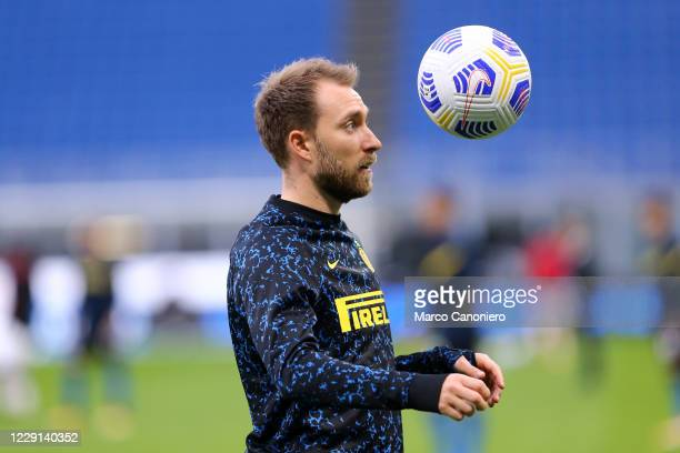 Christian Eriksen of FC Internazionale during the Serie A match between FC Internazionale and Ac Milan Ac Milan wins 21 over Fc Internazionale