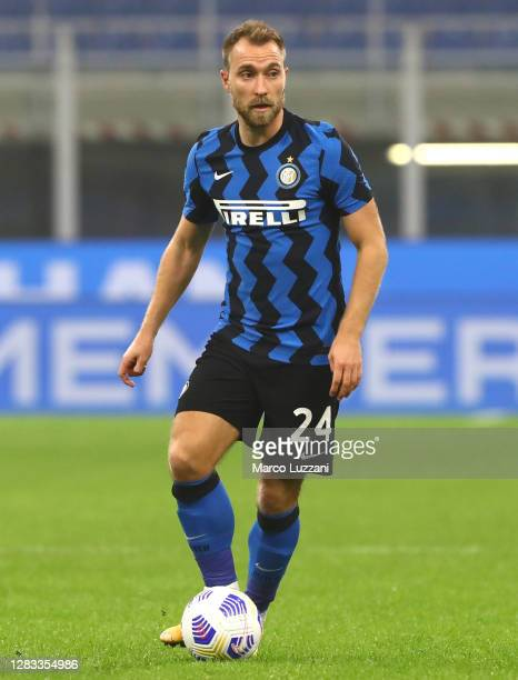 Christian Eriksen of FC Internazionale in action during the Serie A match between FC Internazionale and Parma Calcio at Stadio Giuseppe Meazza on...