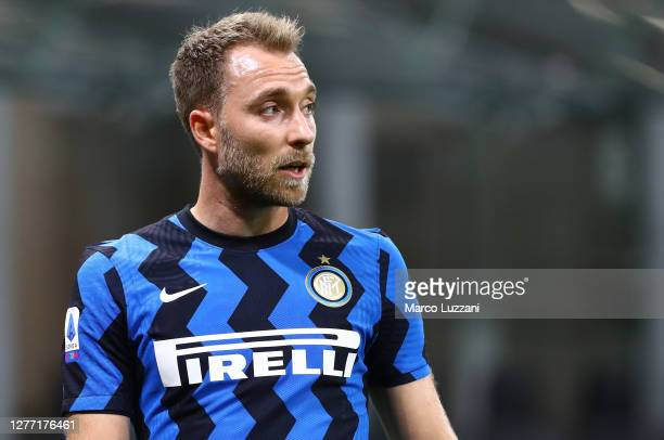 Christian Eriksen of FC Internazionale looks on during the Serie A match between FC Internazionale and ACF Fiorentina at Stadio Giuseppe Meazza on...