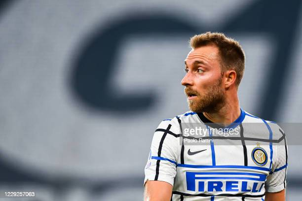 Christian Eriksen of Inter looks on during the Serie A match between Genoa CFC and Fc Internazionale at Stadio Luigi Ferraris on September 20, 2020...