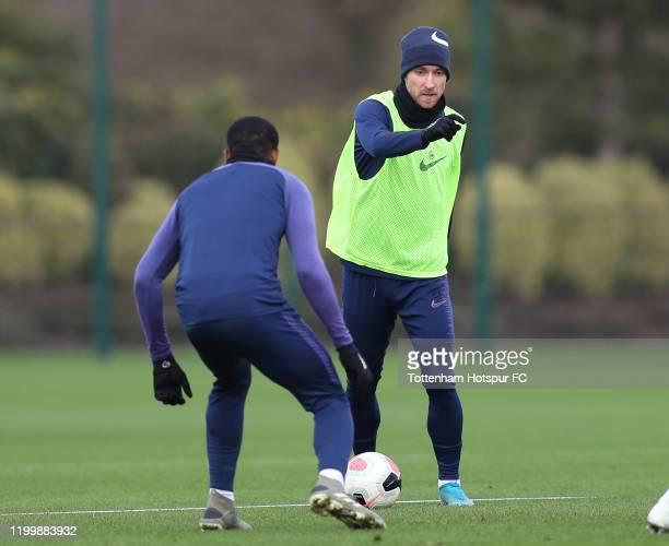 Christian Eriksen of Tottenham Hotspur during the Tottenham Hotspur training session at Tottenham Hotspur Training Centre on January 16 2020 in...