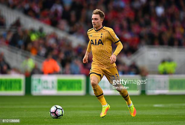 Christian Eriksen of Tottenham Hotspur in action during the Premier League match between Middlesbrough and Tottenham Hotspur at the Riverside Stadium...