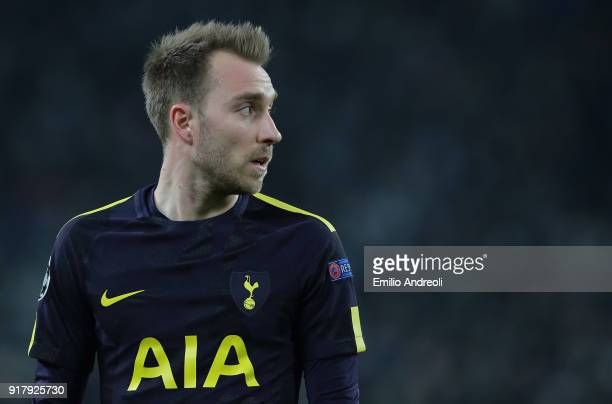 Christian Eriksen of Tottenham Hotspur looks on during the UEFA Champions League Round of 16 First Leg match between Juventus and Tottenham Hotspur...
