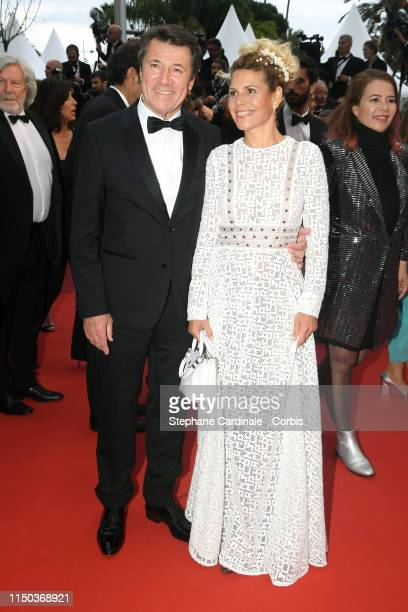 "Christian Estrosi and wife Laura Tenoudji attend the screening of ""A Hidden Life "" during the 72nd annual Cannes Film Festival on May 19, 2019 in..."