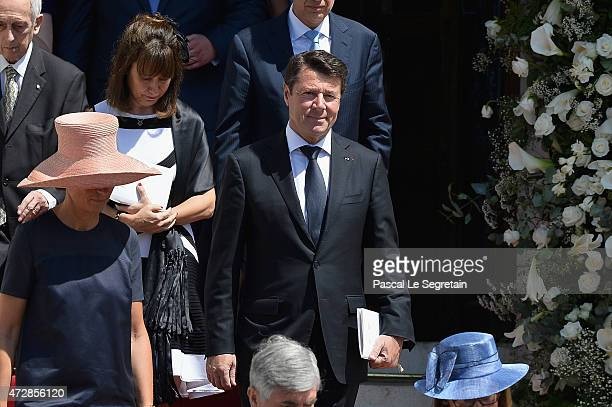 Christian Estrosi attends The Baptism Of The Princely Children at The Monaco Cathedral on May 10 2015 in Monaco Monaco