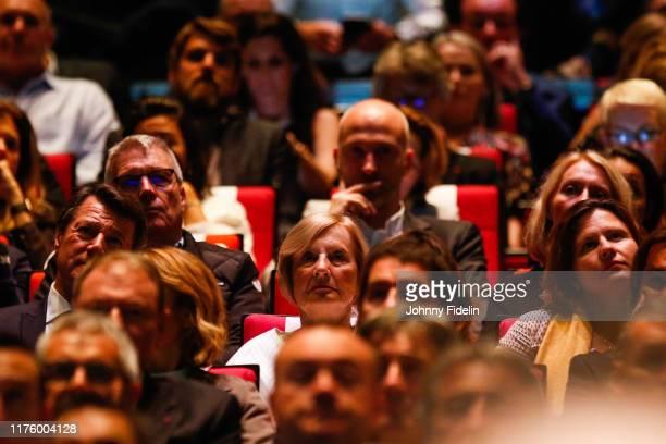 Christian ESTROSI mayor of Nice Marie Odile AMAURY president of ASO Roxana MARACINEANU sport minister during the Presentation of 107th Tour de France...