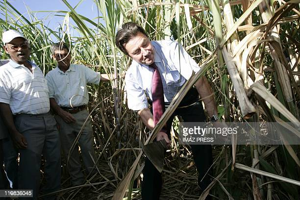 Christian Estrosi On The Island Of Reunion France On October 04 2007 SaintDenis of La Reunion Christian Estrosi State Secretary in overseas pays a...