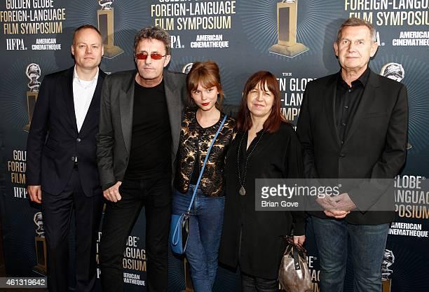 Christian Falkenberg Husum, Pawel Pawlikoswki, Agata Trzebuchowska, Ewa Puszczynska and Piotr Dzieciol attend the Golden Globe Foreign Language Film...