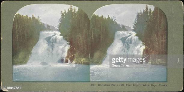 Christian Falls, Alice Bay, Alaska, 1880s-90s, Albumen silver prints, Mount: 8.9 x 17.9 cm , Photographs, Unknown.