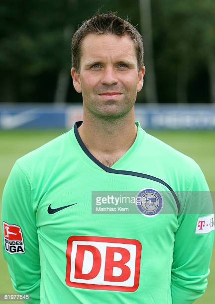 Christian Fiedler poses during the Hertha BSC Berlin Team Presentation on July 18 2008 in Berlin Germany