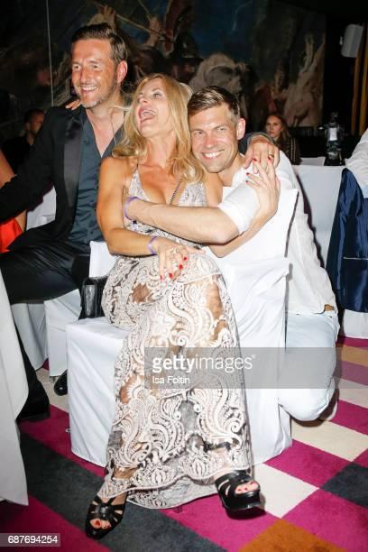 Christian Fischer Fashion designer Sonja Kiefer and her partner Cedric Schwarz during the Kempinski Fashion Dinner on May 23 2017 in Munich Germany