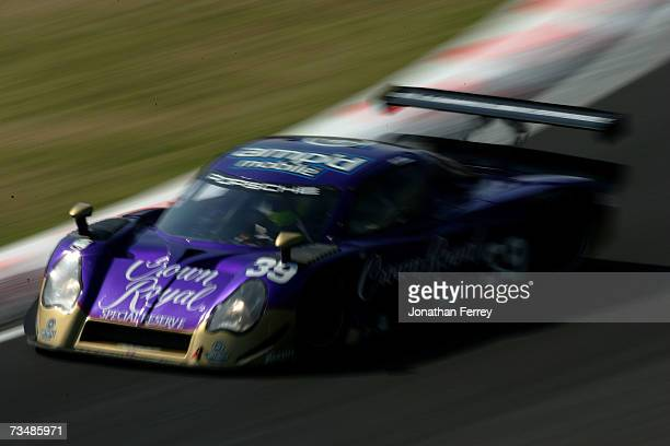 Christian Fittapaldi and Harrison Brix drive the Cheever Racing Crown Royal Porsche Fabcar during the GrandAm Rolex Sports Car Series race on March 3...