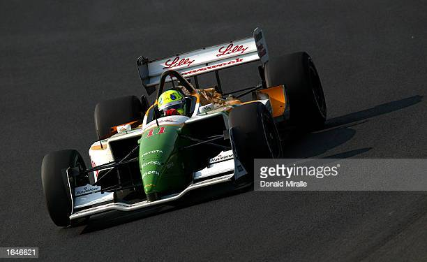 Christian Fittipaldi driving the Newman Haas Racing Toyota Lola during practice for the Gran Premio GiganteTelmex round 19 of the CART Fed Ex...