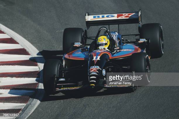 Christian Fittipaldi of Brazil drives the Newman/Haas Racing Lola B2K/00 Ford-Cosworth XF during practice for the Championship Auto Racing Teams 2000...