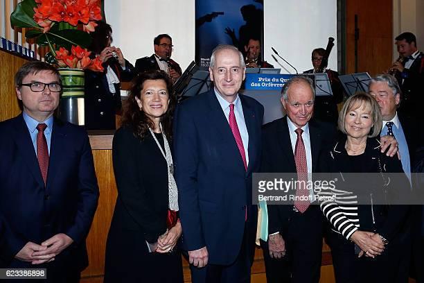 Christian Flaesch guest Prefet de Police de Paris Michel Cadot Guest and Martine Monteil attend the 70 th Anniversary of Prix du Quai des Orfevres at...