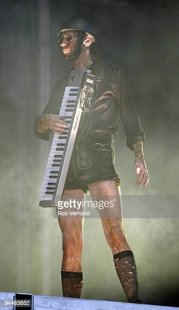 Christian 'Flake' Lorenz from Rammstein performs live on stage at The Fields of Rock Festival at Nijmegen Holland on June 18 2005