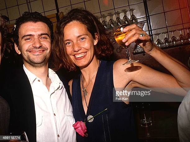 Christian Fourteau and hiswife Ellen Von Unwerth attend a fashion week Party at Les Bains Douches in the 1990s in Paris France