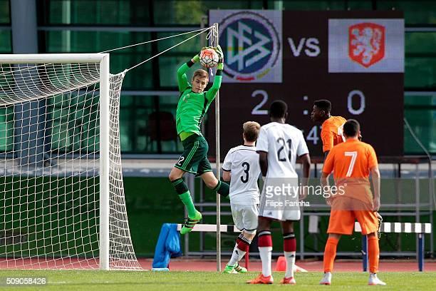 Christian Fruchtl of Germany during the UEFA Under16 match between U16 Germany v U16 Netherlands on February 8 2016 in Vila Real de Santo Antonio...