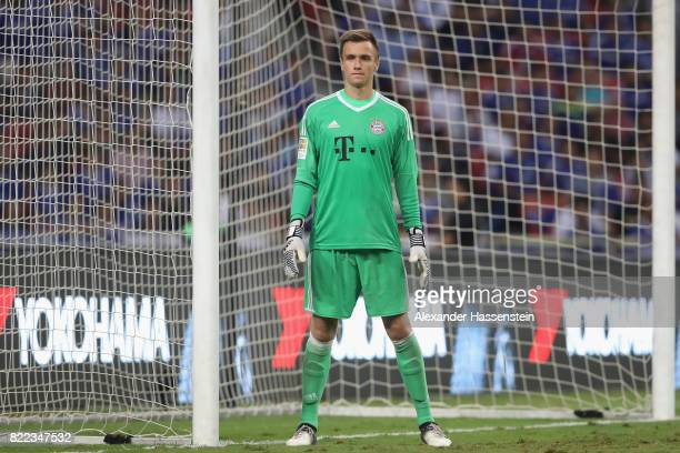 Christian Fruechtl keeper of Bayern Muenchen looks on during the International Champions Cup 2017 match between Bayern Muenchen and Chelsea FC at...