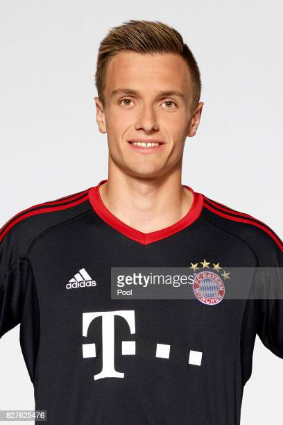 Christian Fruechtl of FC Bayern Muenchen poses during the team presentation at Allianz Arena on August 8 2017 in Munich Germany