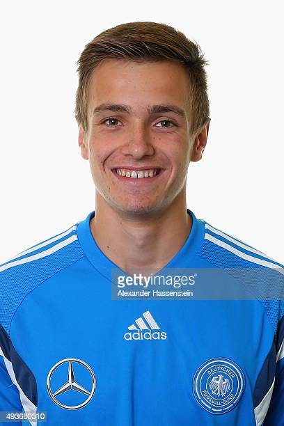 Christian Fruechtl of the Germany national U16 team poses during the team presentation on October 21 2015 in Grodig Austria