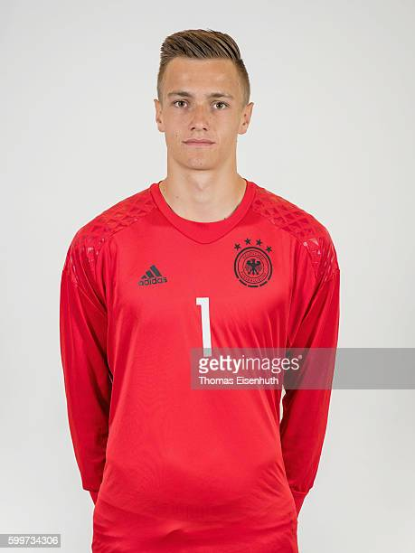 Christian Fruechtl of the Germany national U17 team poses during the team presentation on September 6 2016 in Jena Germany