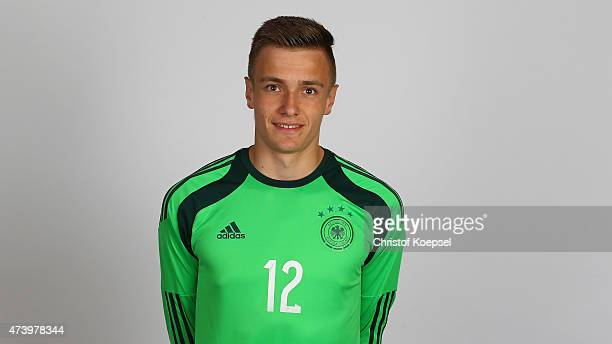 Christian Fruechtl poses during the team presentation of the U15 Germany Team on May 19 2015 in Holten Netherlands